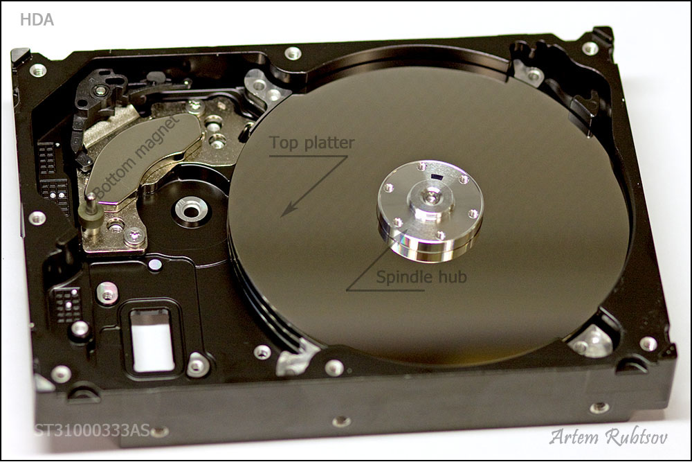 HDD from inside: Hard Drive Main parts Hard Disk Motor Wiring Diagram on
